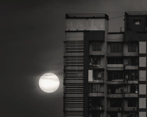 Foto stok gratis bertingkat tinggi, gelap, grayscale, hitam