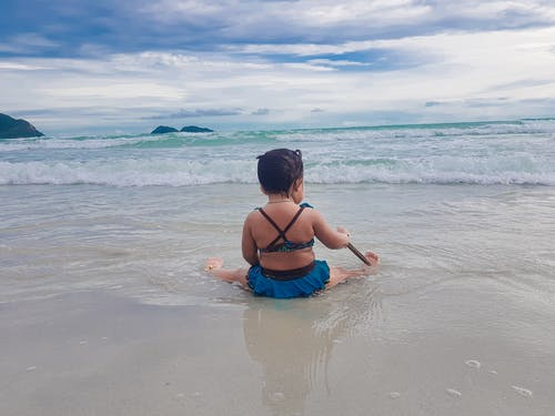 Free stock photo of asian child, at sea