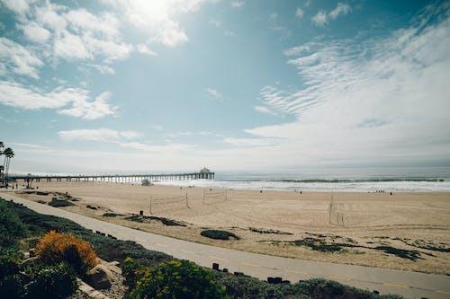 Fotobanka sbezplatnými fotkami na tému more, obloha, pláž, prístavné mólo