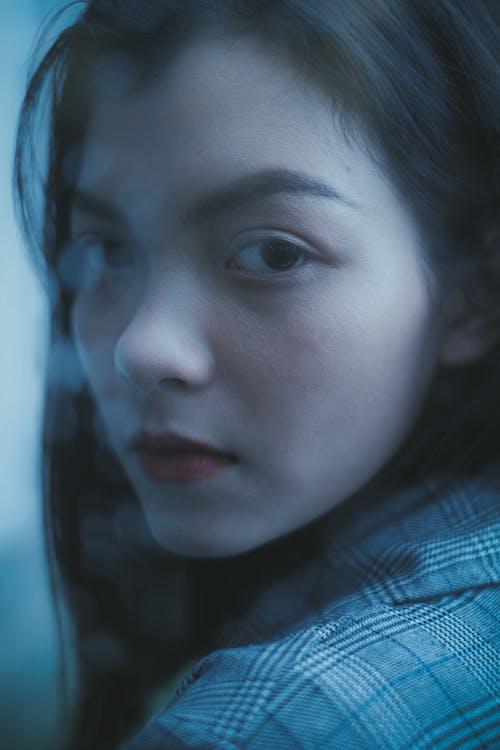 Imagine de stoc gratuită din adolescent, armonios, buze roșii, calm