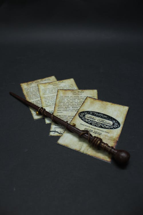 Brown Wooden Stick on Brown Book