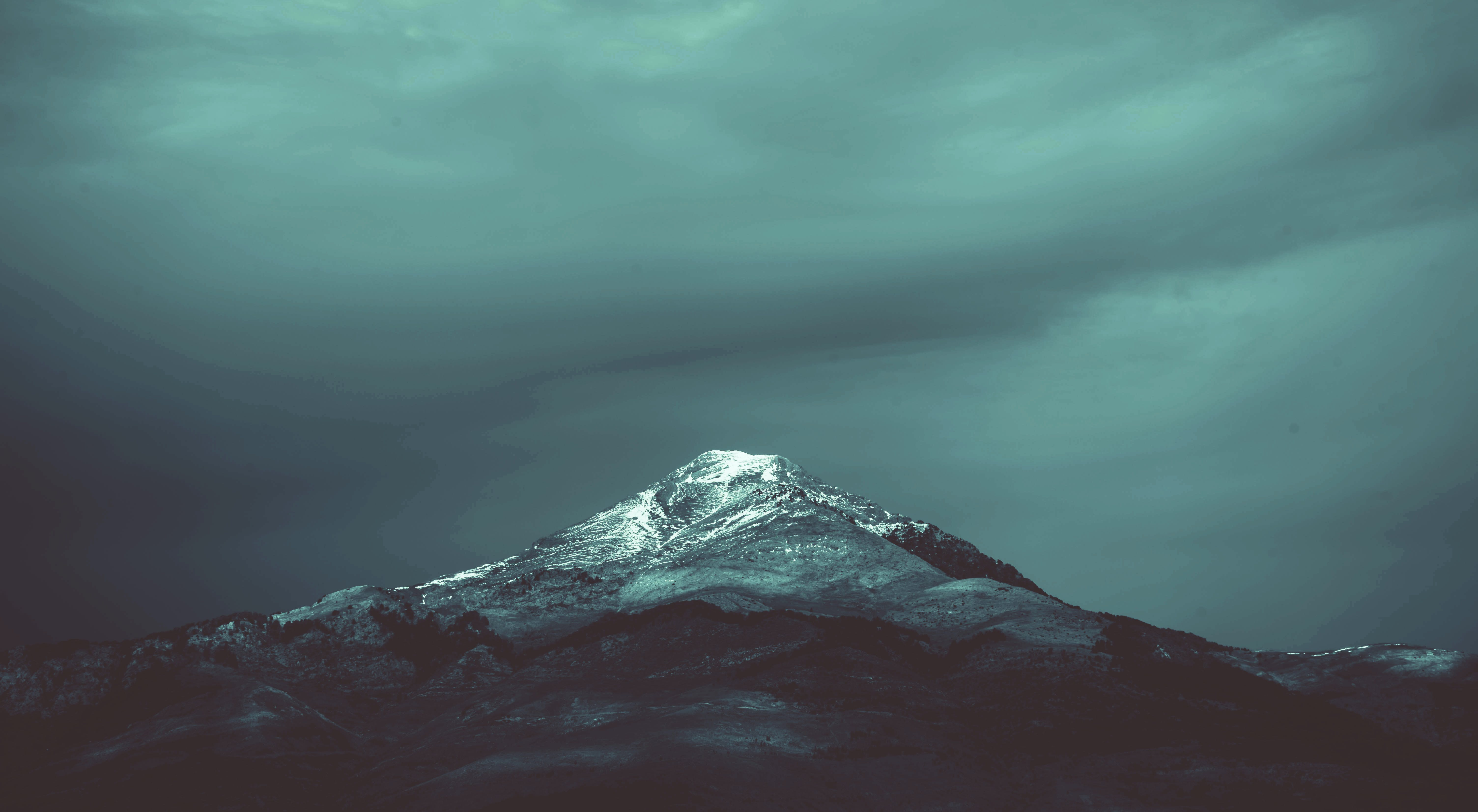 Black and Teal Mountain
