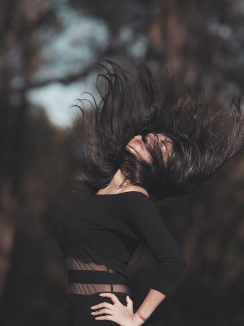 Free stock photo of asian model, black, black dress