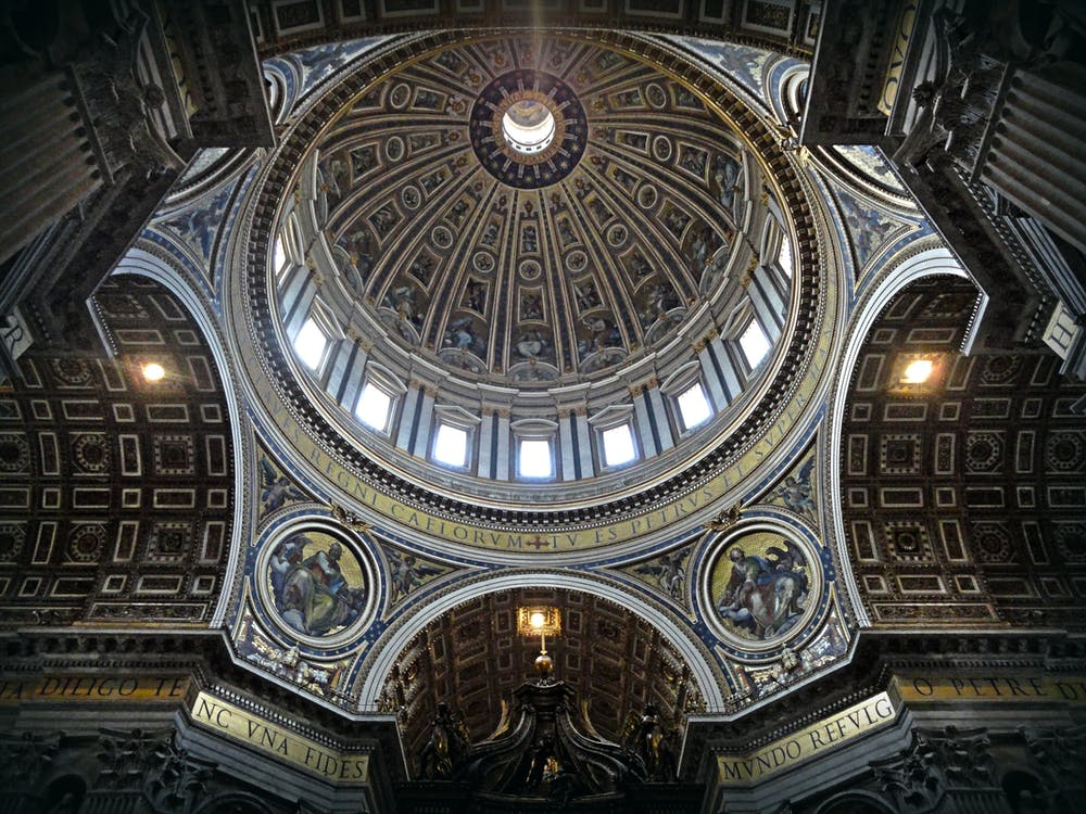 arkitektur, basilika, bue