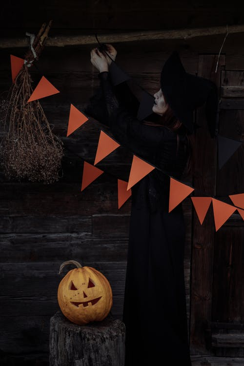 Witch With a Jack O Lantern