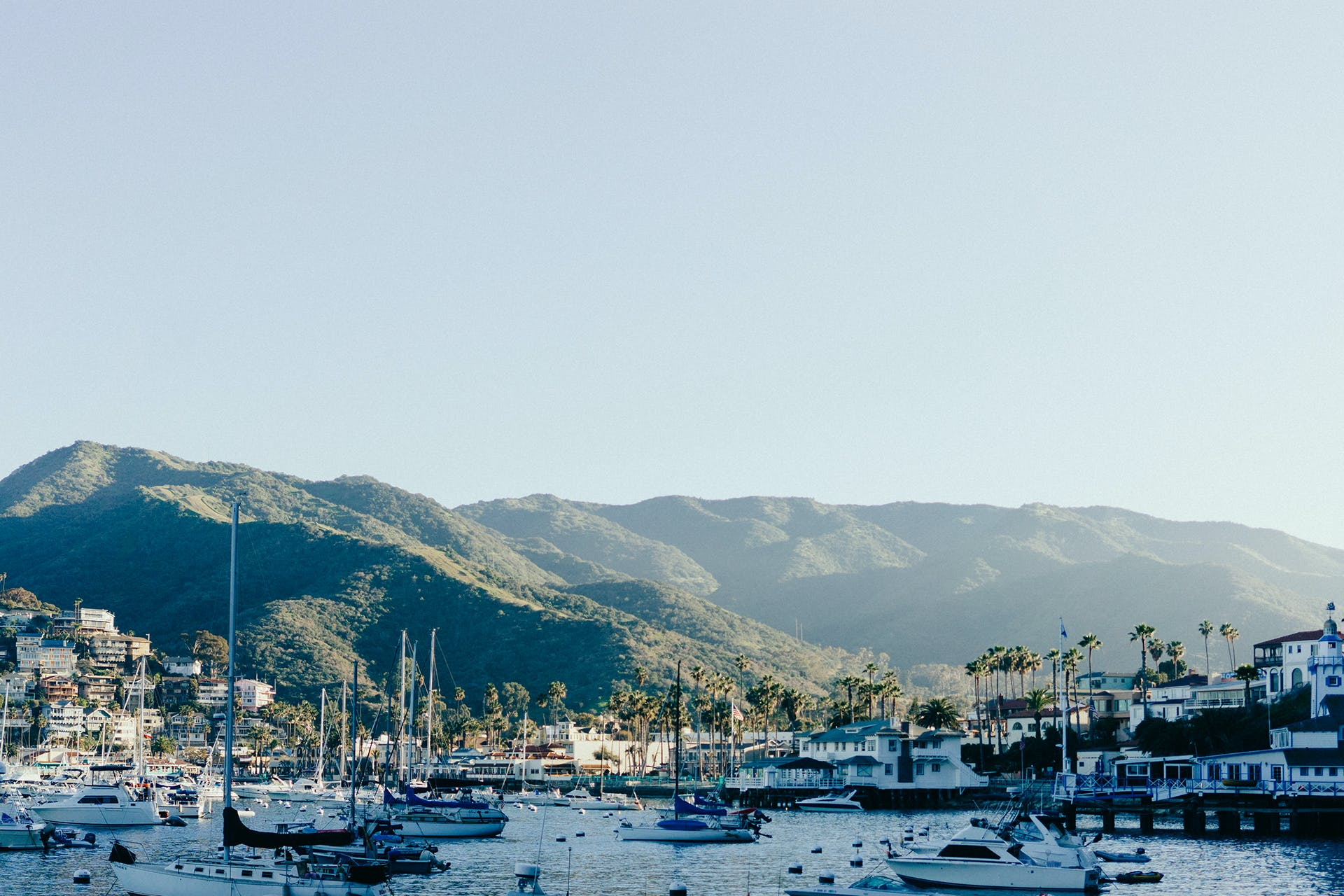 Free stock photo of sea, mountains, bay, boats