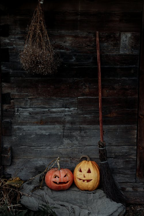 Jack O Lantern and Broom
