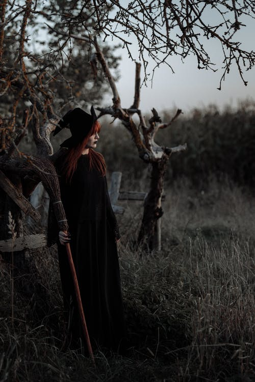 Witch Standing Outside