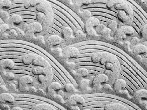 Бесплатное стоковое фото с волна, камень, махать, резьба