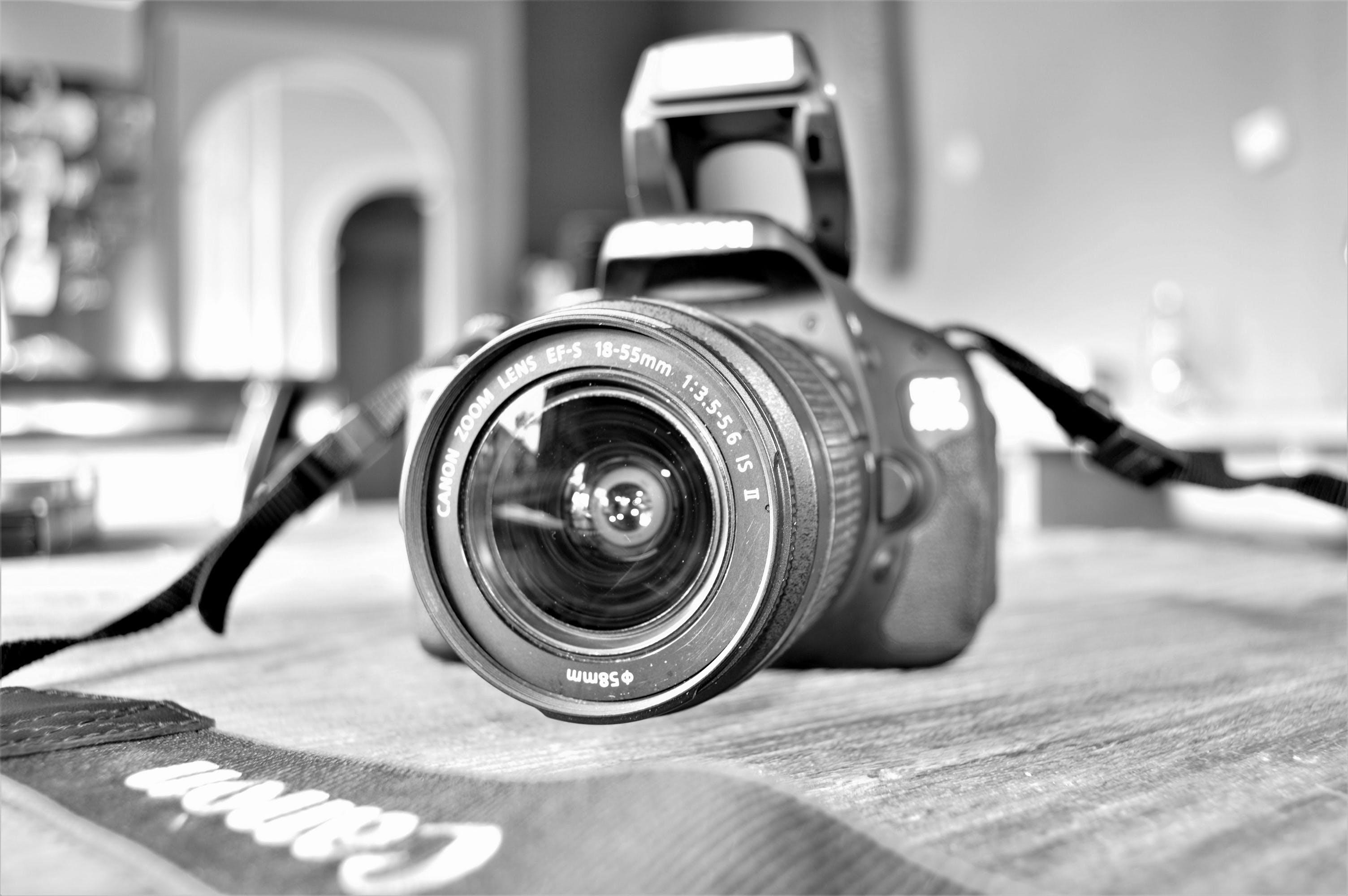 Free stock photo of camera, table, inside, canon