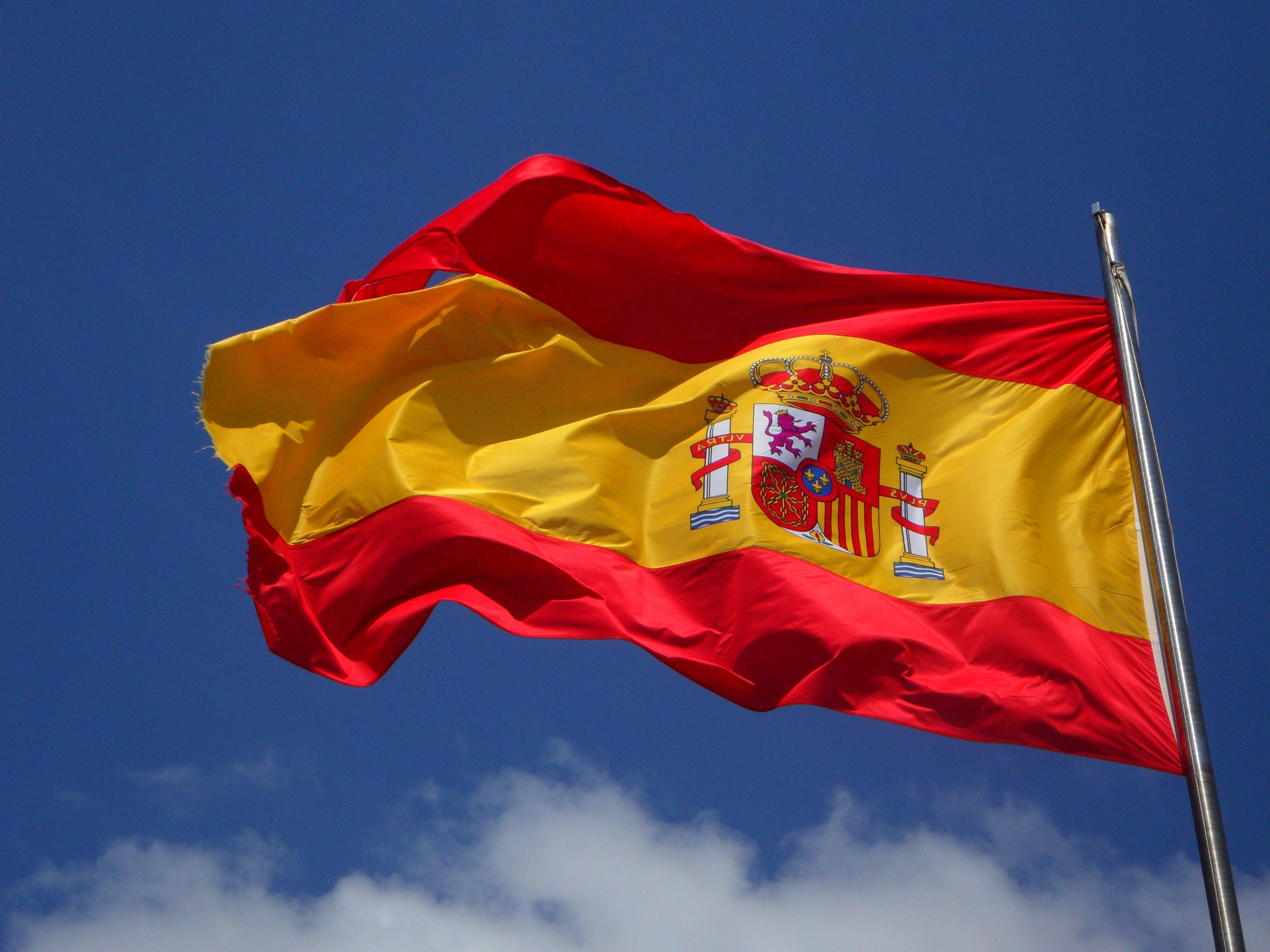 Kostenloses Stock Foto zu fahnenstange, spanien, spanisch