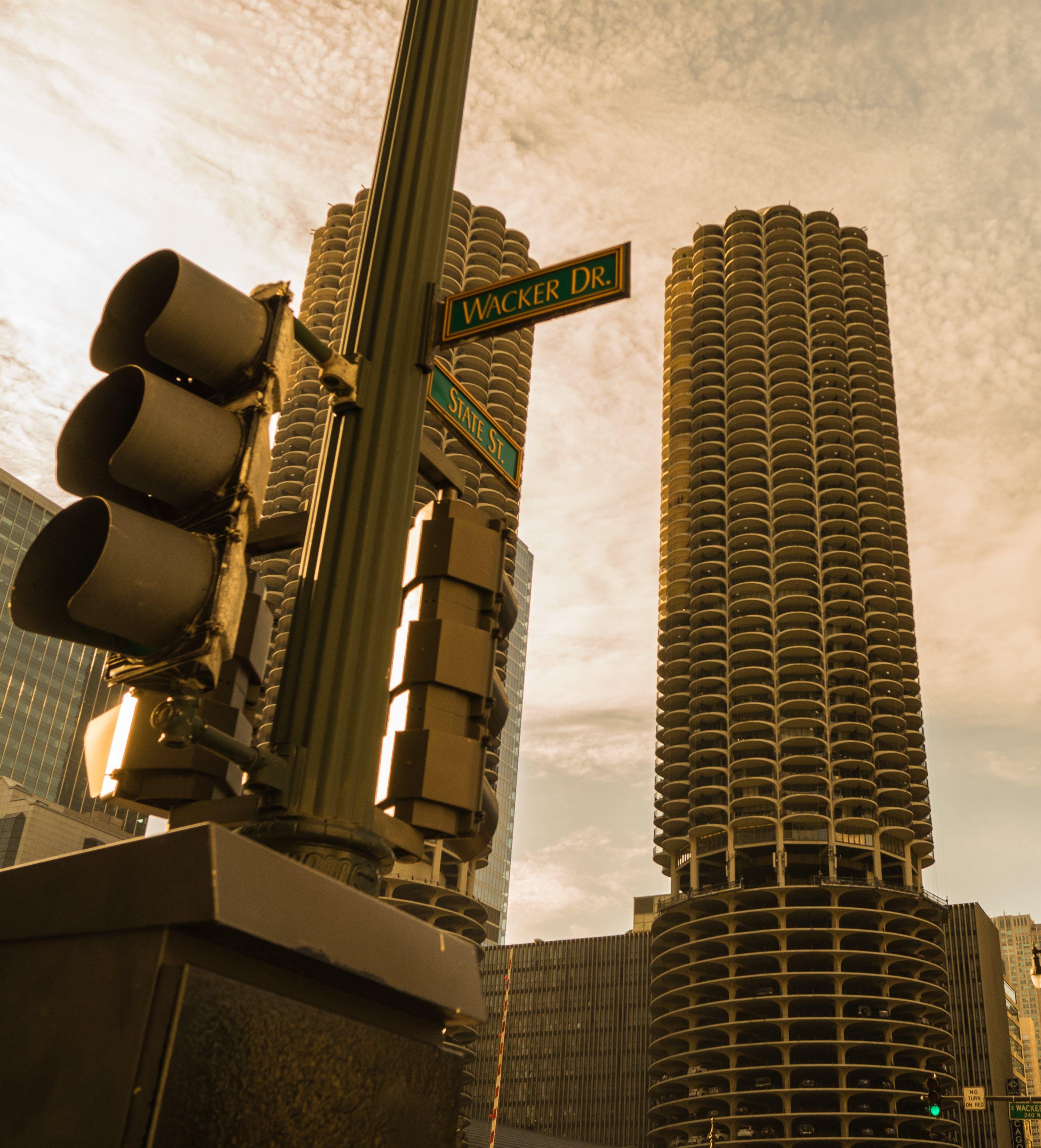 Kostenloses Stock Foto zu chicago, licht, niederländische neigung, orange