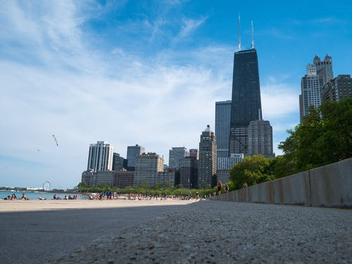 Free stock photo of beach, blue, building, chicago