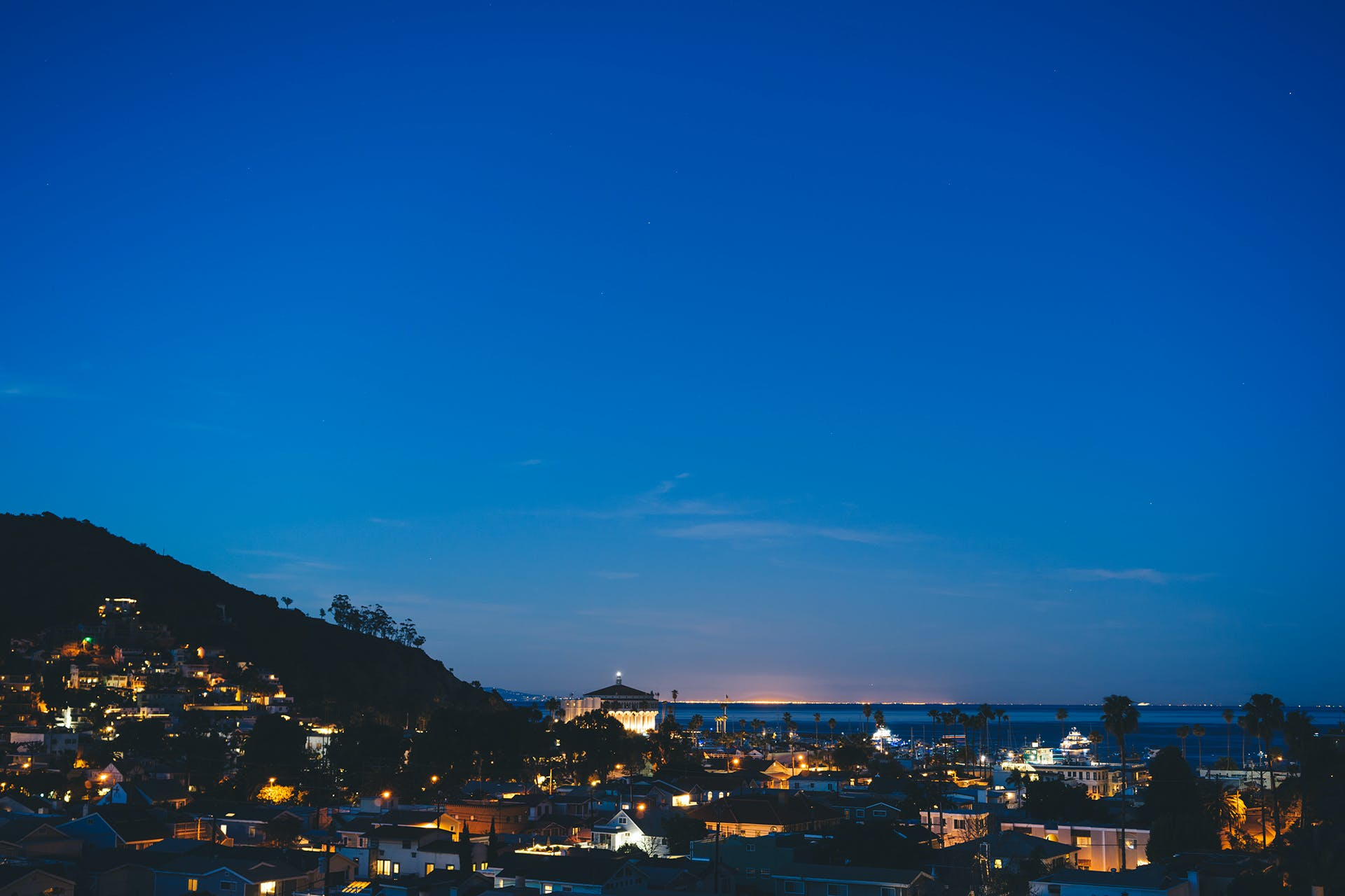 Free stock photo of sky, houses, lights, night