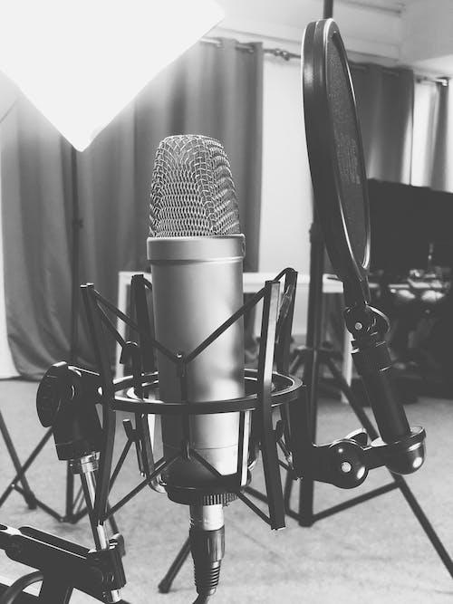 Imagine de stoc gratuită din birou, inregistrare audio, micro, microfon