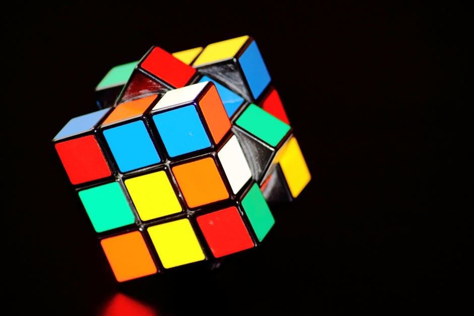 colorful, concentration, cube