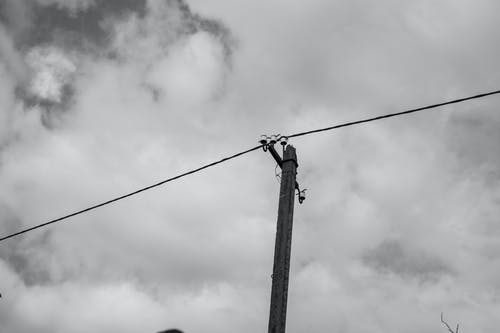 Free stock photo of black and white, clouds, electricity, sky