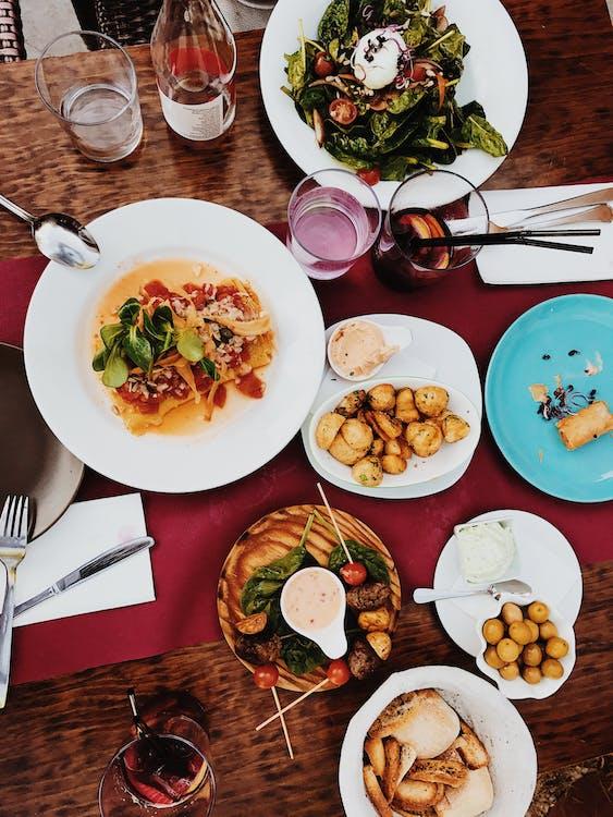 Dinnerware on Table