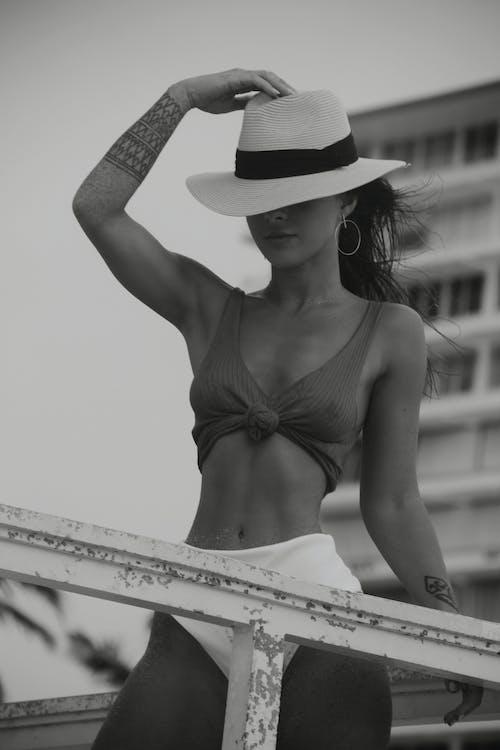 人, 健身, 單色, 夏天 的 免费素材图片
