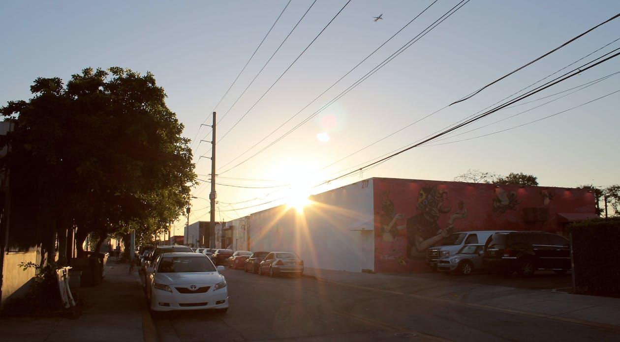Gratis lagerfoto af kunst disctrict, miami, solnedgang
