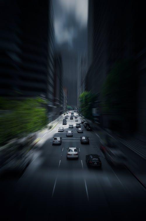 Imagine de stoc gratuită din autostradă, autoturisme, centrul orașului