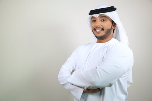 Fotobanka sbezplatnými fotkami na tému arab, arabský muž, biele pozadie