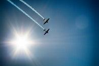 flight, sky, sun