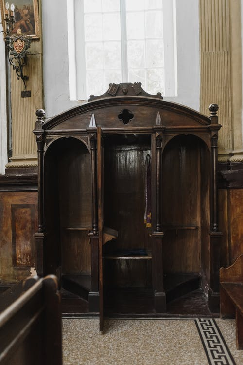 Brown Wooden Door With Brass Door Lever