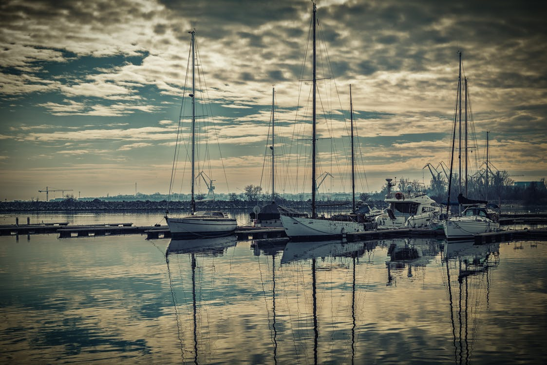 acqua, banchina, barche