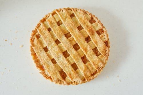 Brown and White Round Cake