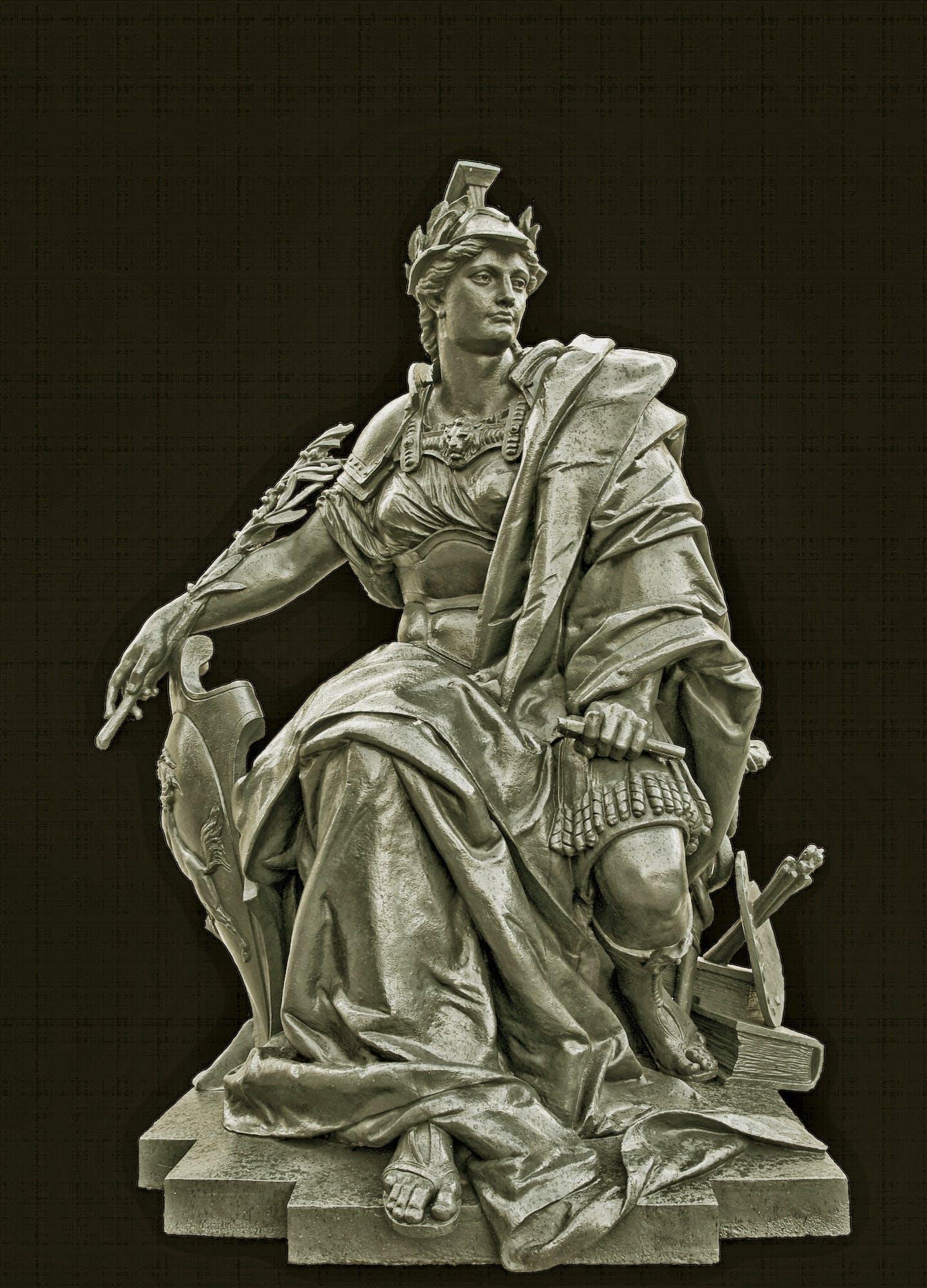 Gray Stone Sitting Man Statue