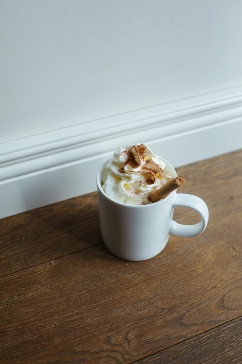 White Ceramic Mug With Ice Cream