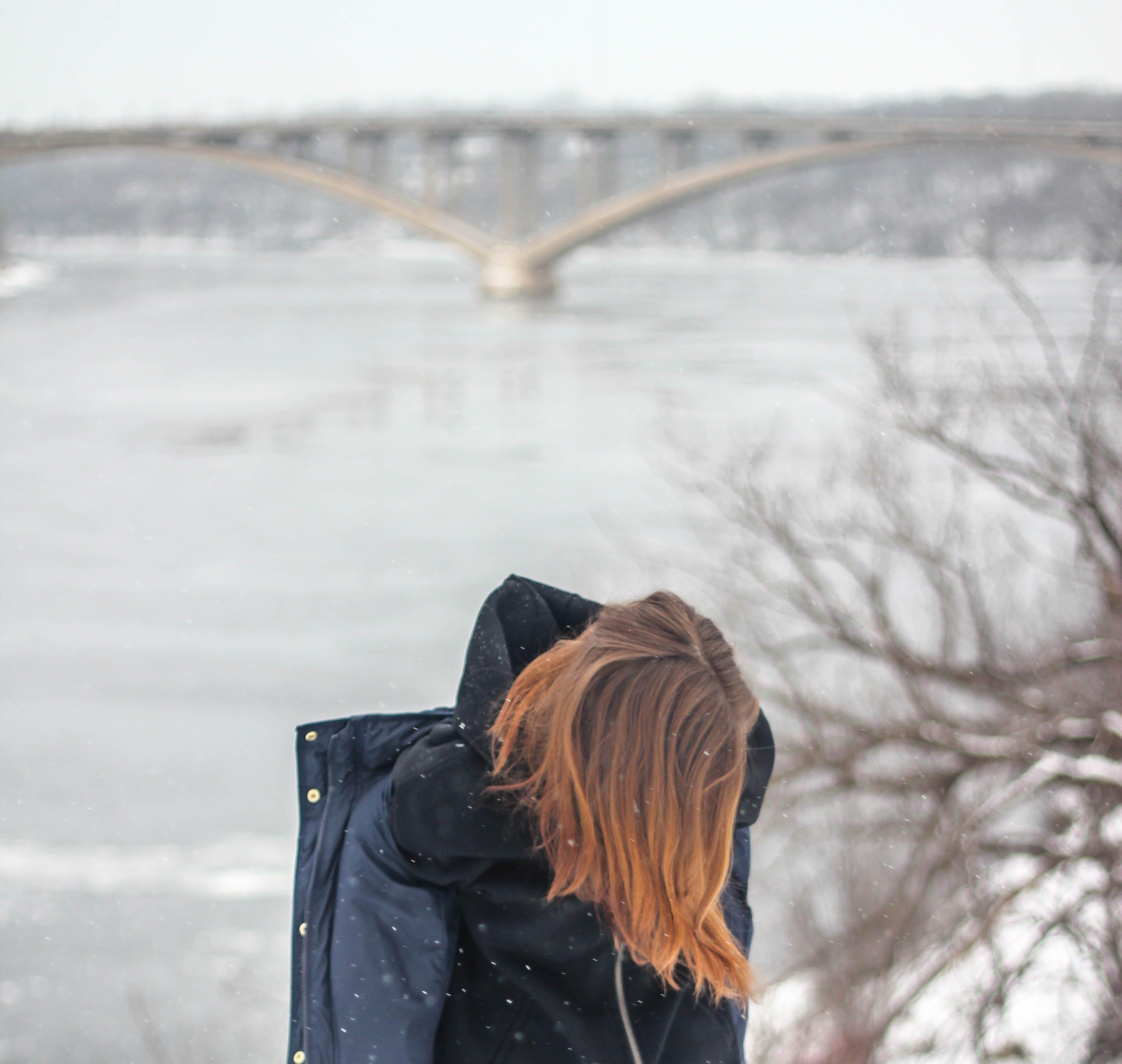 alone, blur, bridge