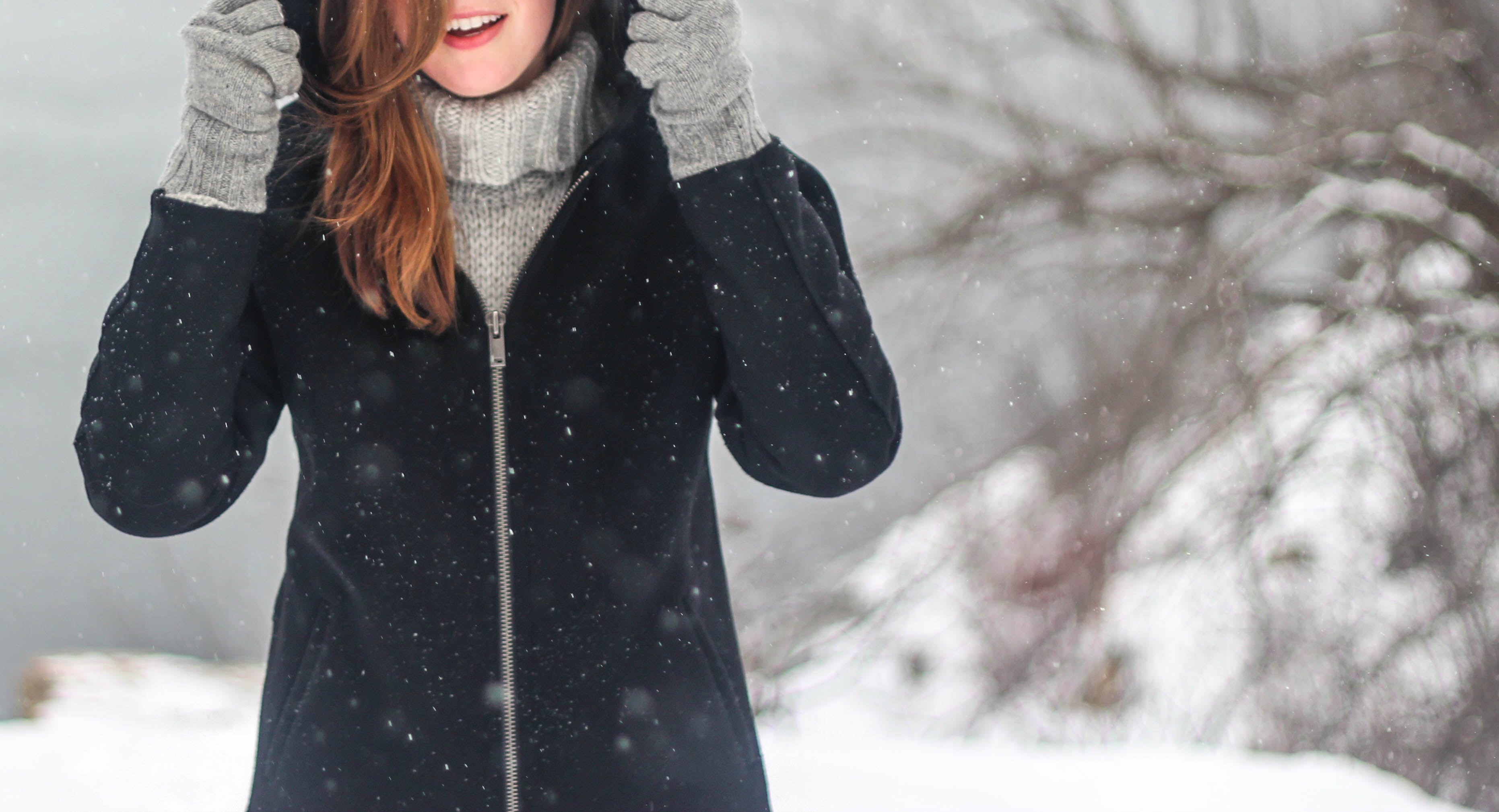 Free stock photo of cold, snow, woman, girl