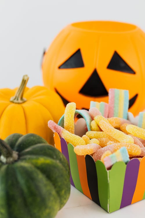 Jack O Lantern and Gummy Worms