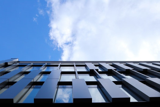 Free stock photo of city, clouds, building, office