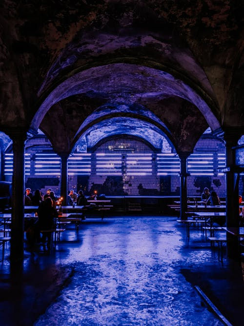 Free stock photo of bar, dark blue, dark room
