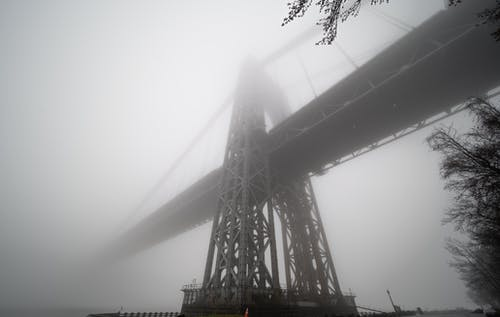 Free stock photo of bridge, fog, foggy, Foggy landscape