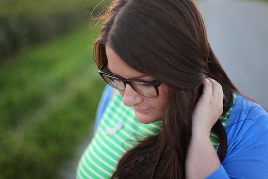 Free stock photo of woman, girl, portrait, glasses