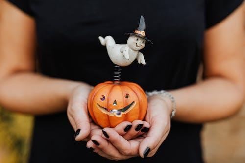 White and Orange Jack O Lantern