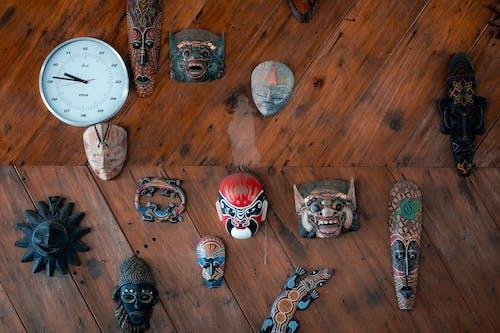 Set of ethnic decorative wooden masks