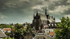 sky, houses, landmark