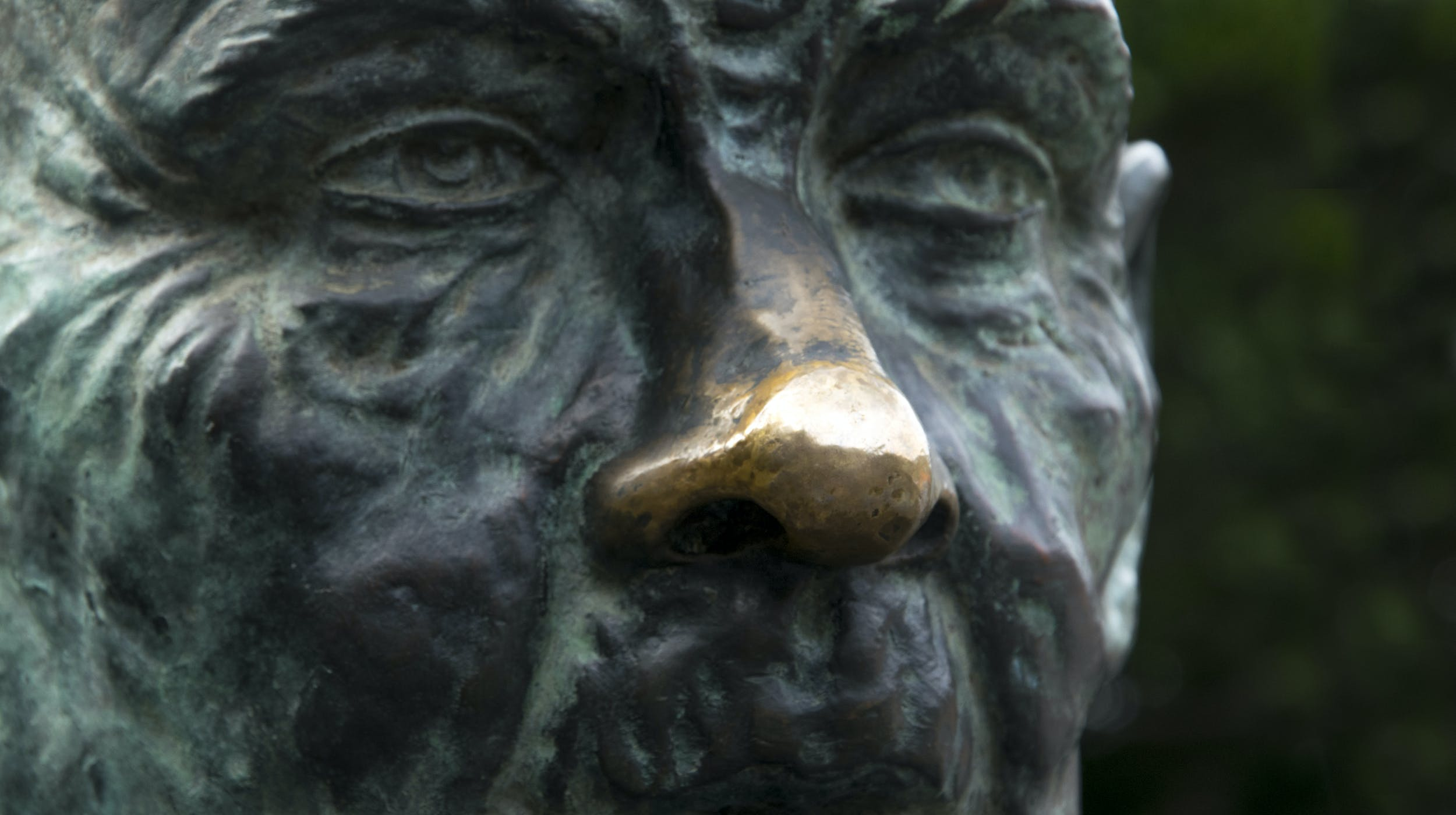Free stock photo of gold, green, nose, statue