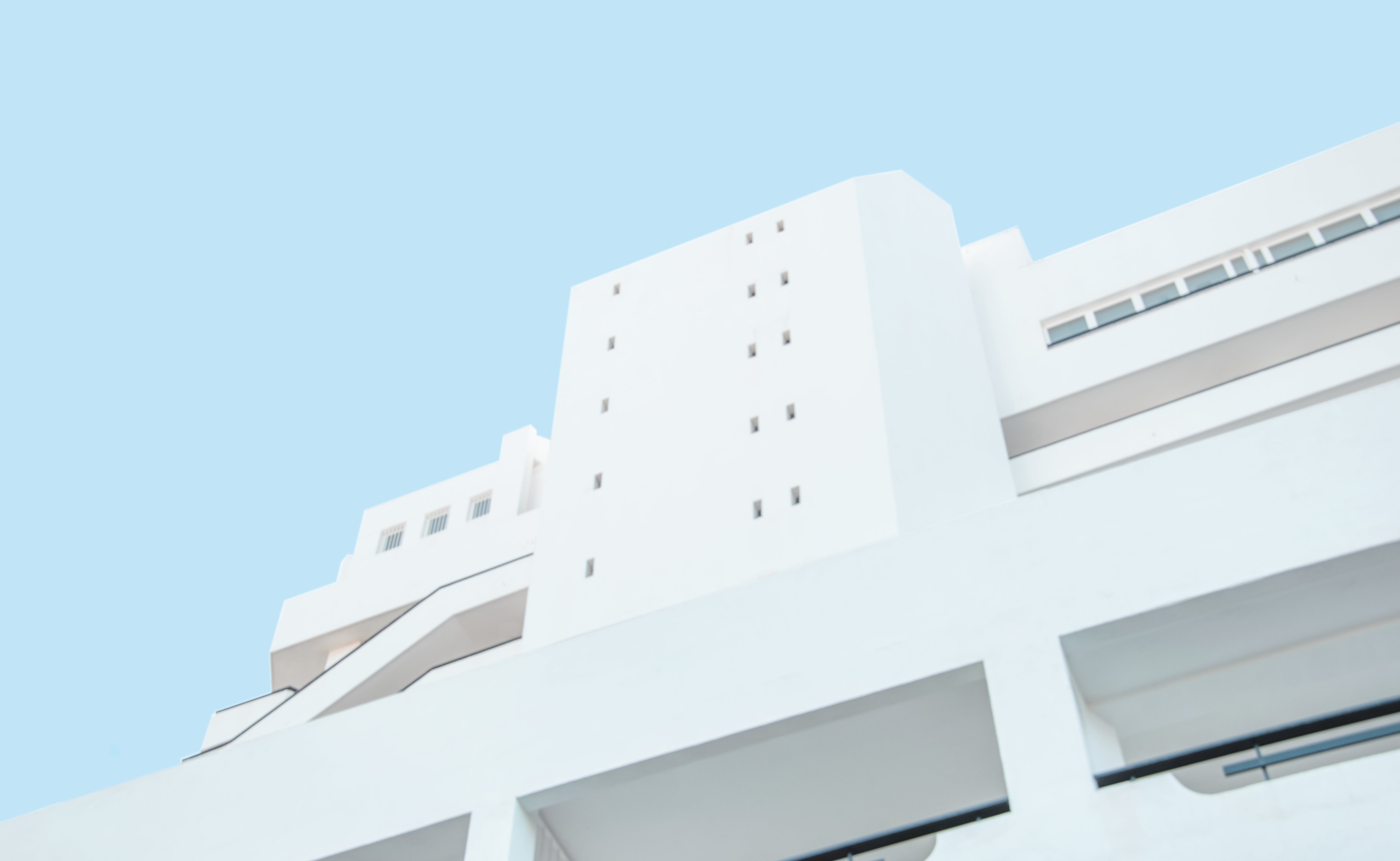 White Concrete Building