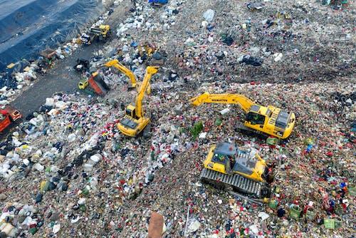 Heavy Equipments on Landfill