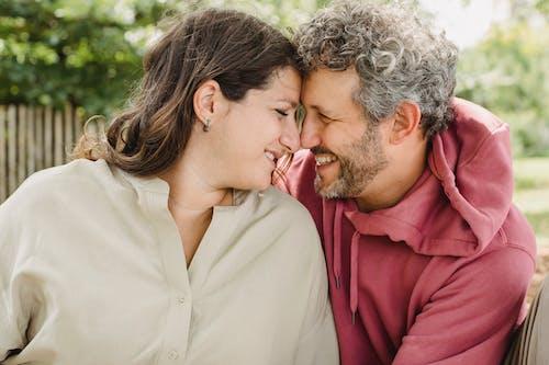 Loving couple having romantic moment