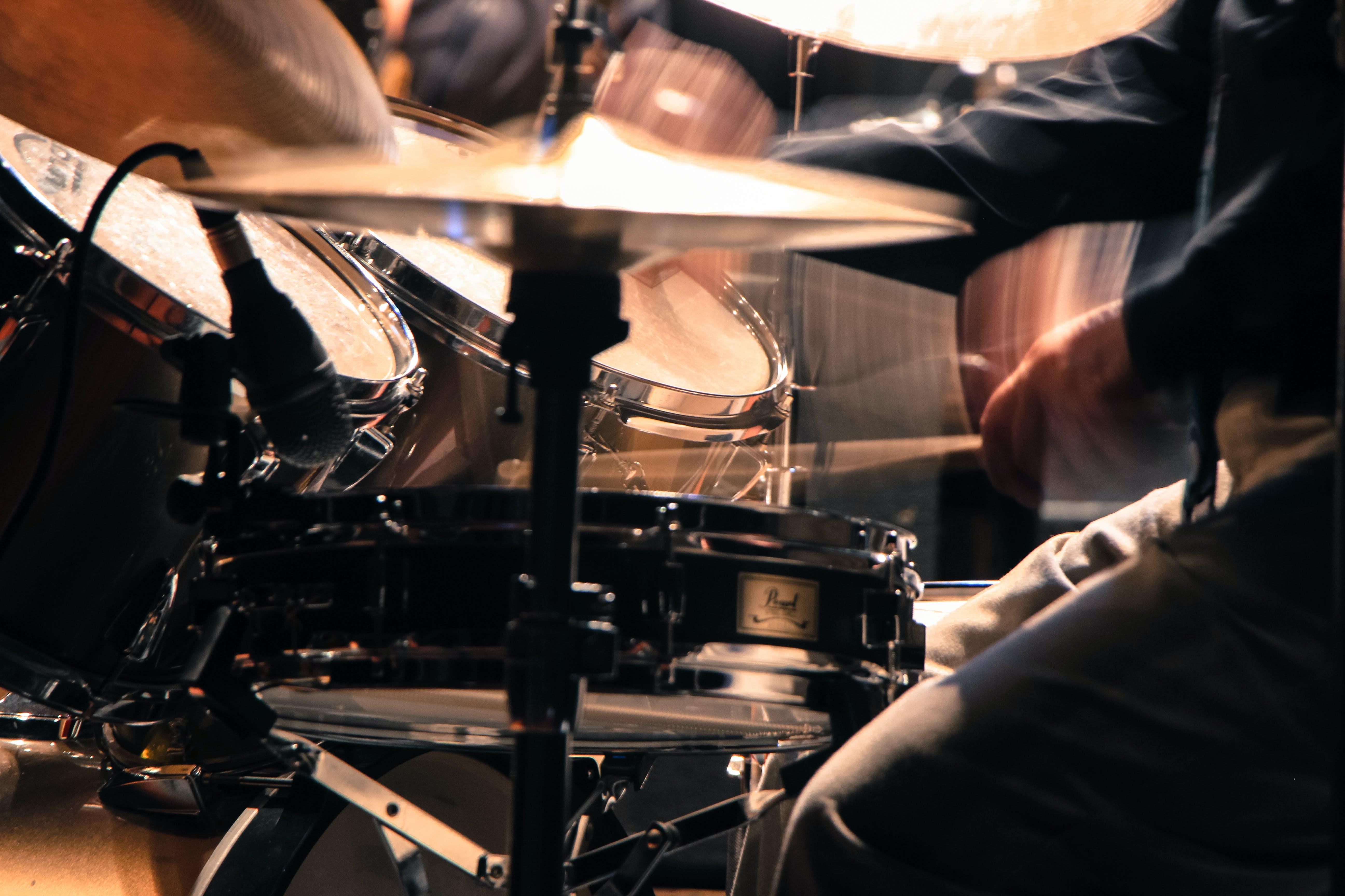 Man Performing Drum