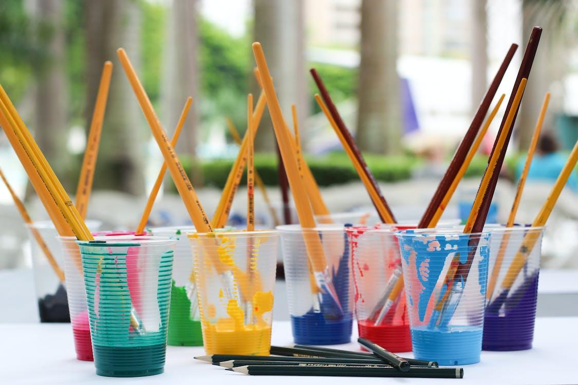 artystyczny, farba, kolorowy