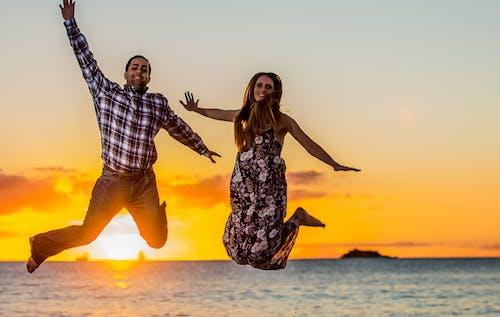Бесплатное стоковое фото с пары, пляж
