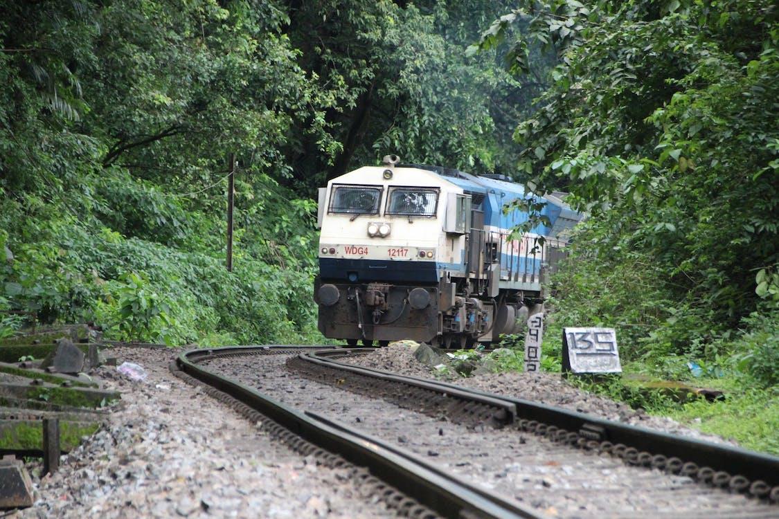 Free stock photo of engine, railway track, train